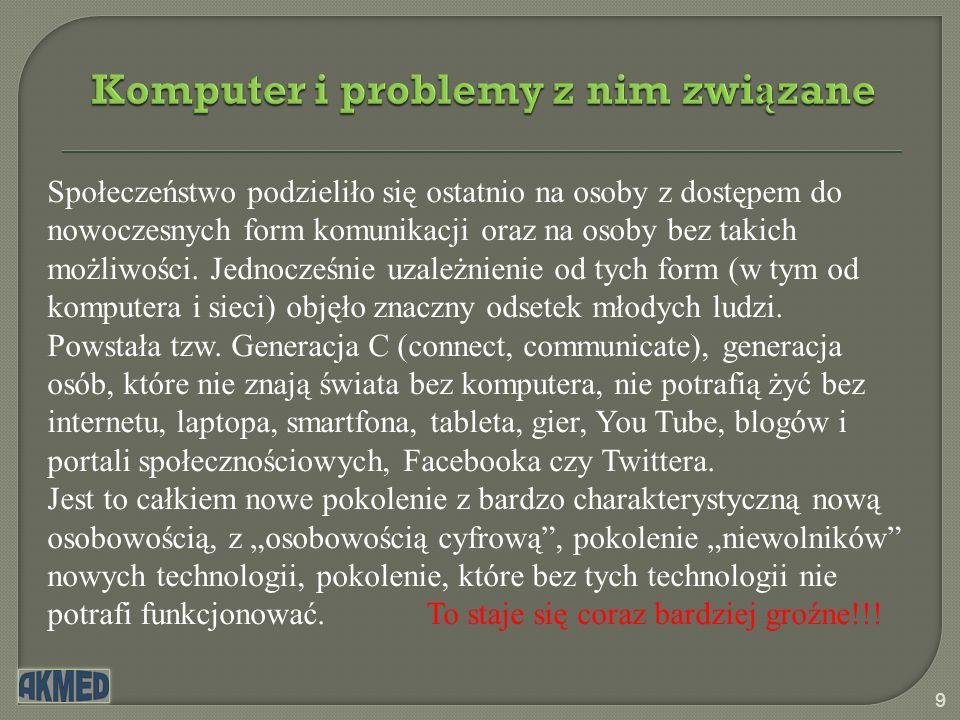Komputer i problemy z nim związane