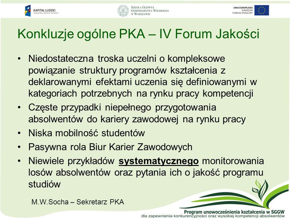 Konkluzje ogólne PKA – IV Forum Jakości