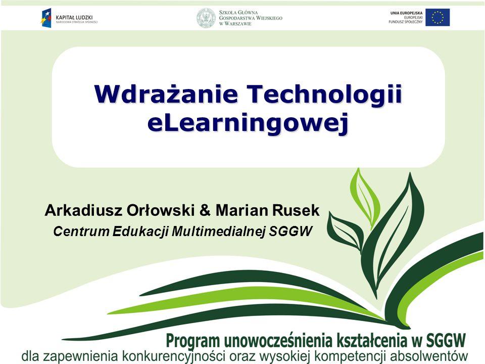 Wdrażanie Technologii eLearningowej