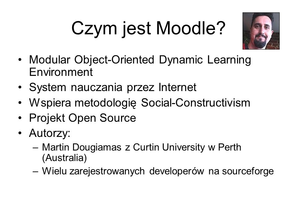 Czym jest Moodle Modular Object-Oriented Dynamic Learning Environment