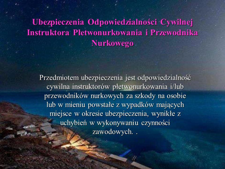 Ubezpieczenia Odpowiedzialności Cywilnej Instruktora Płetwonurkowania i Przewodnika Nurkowego