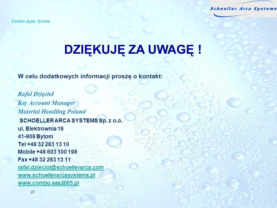 DZIĘKUJĘ ZA UWAGĘ ! W celu dodatkowych informacji proszę o kontakt: