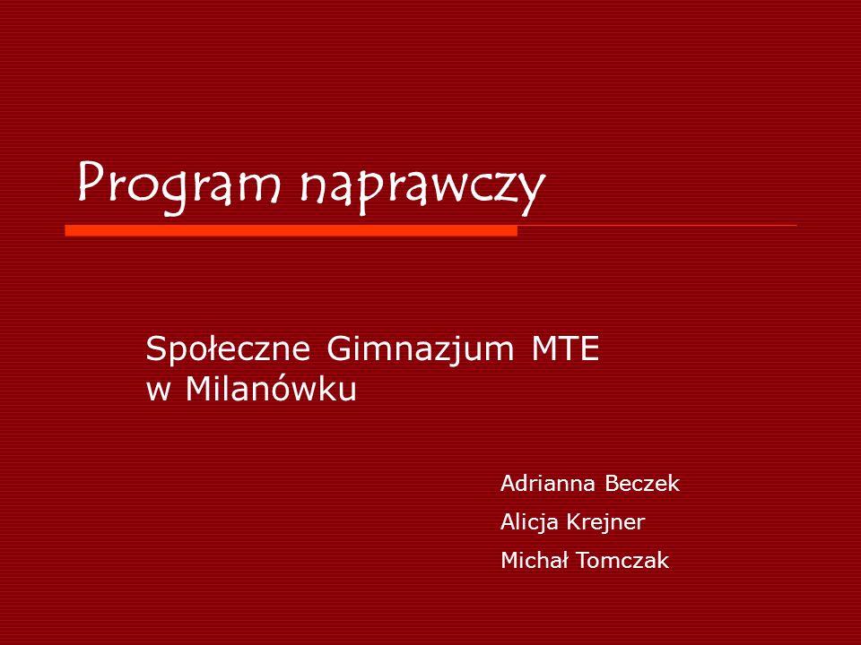Społeczne Gimnazjum MTE w Milanówku