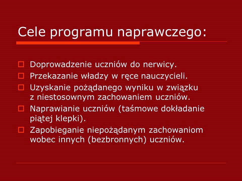 Cele programu naprawczego: