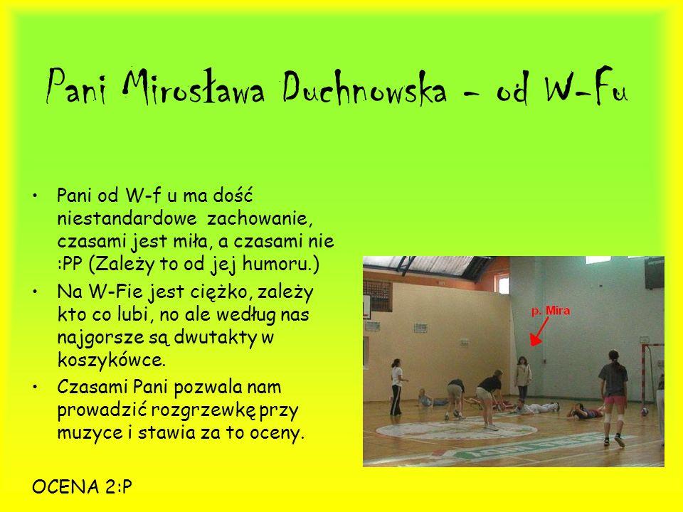 Pani Mirosława Duchnowska - od W-Fu