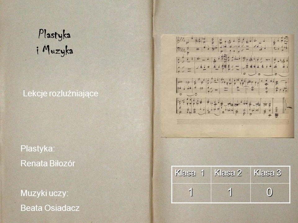 Plastyka i Muzyka 1 Lekcje rozluźniające Plastyka: Renata Biłozór
