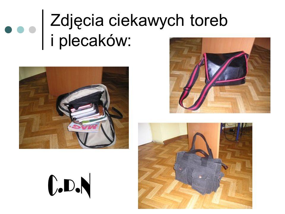 Zdjęcia ciekawych toreb i plecaków: