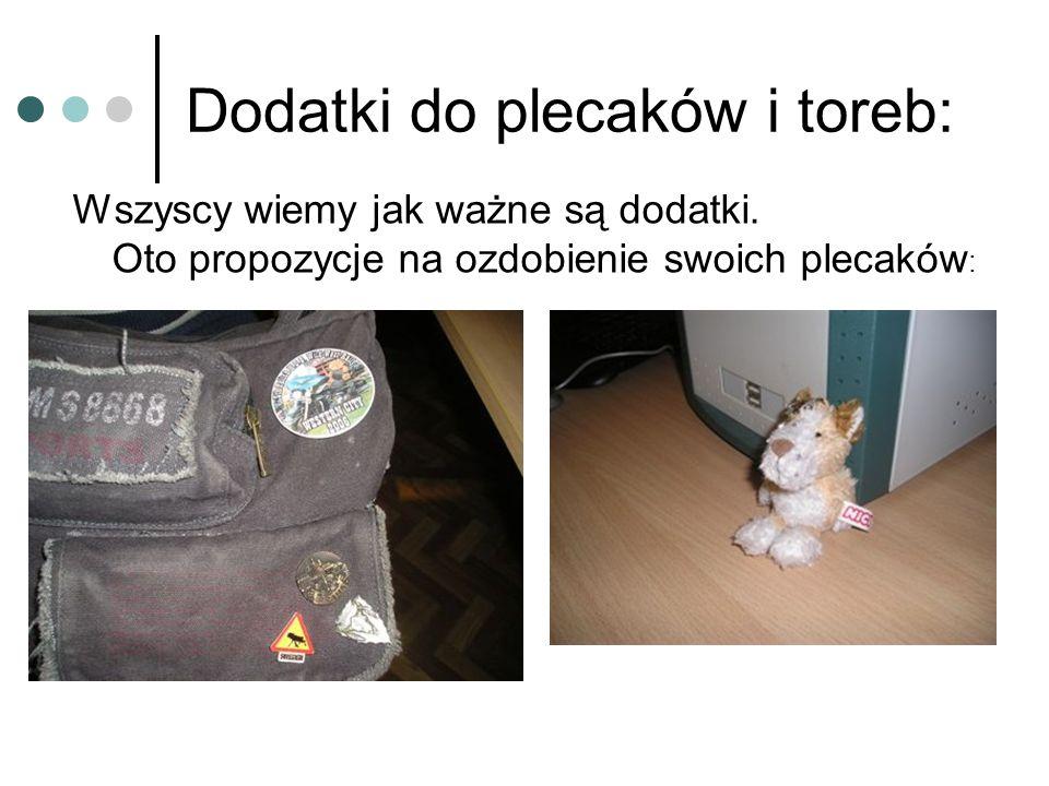 Dodatki do plecaków i toreb: