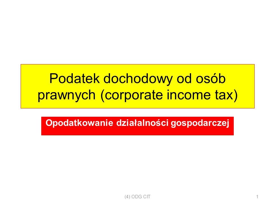 Podatek dochodowy od osób prawnych (corporate income tax)
