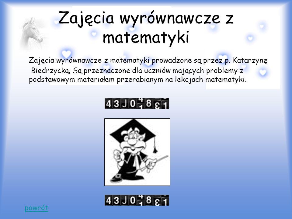 Zajęcia wyrównawcze z matematyki