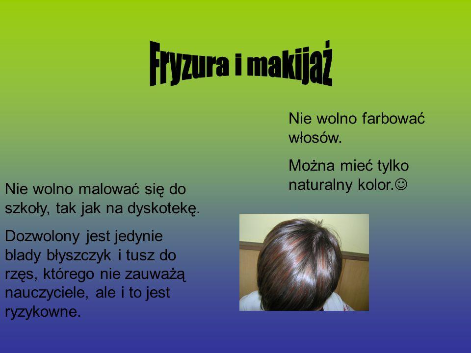 Fryzura i makijaż Nie wolno farbować włosów.