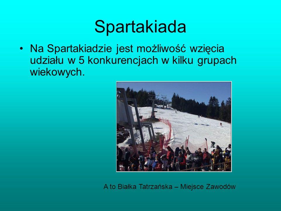 Spartakiada Na Spartakiadzie jest możliwość wzięcia udziału w 5 konkurencjach w kilku grupach wiekowych.