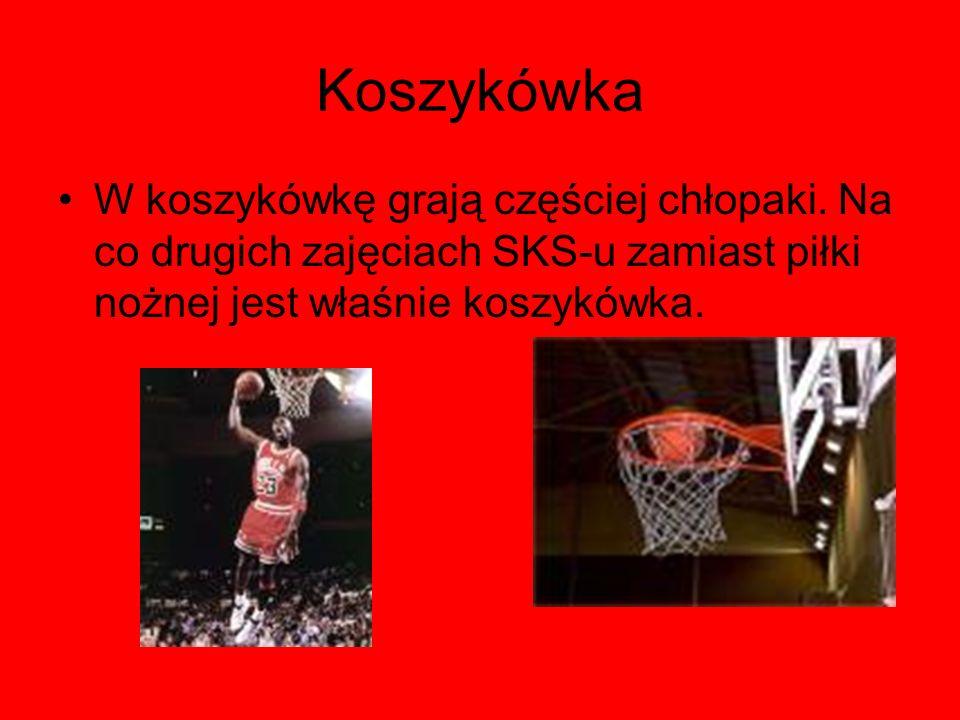 Koszykówka W koszykówkę grają częściej chłopaki.