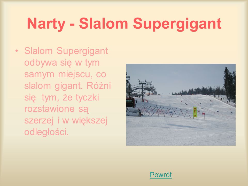 Narty - Slalom Supergigant