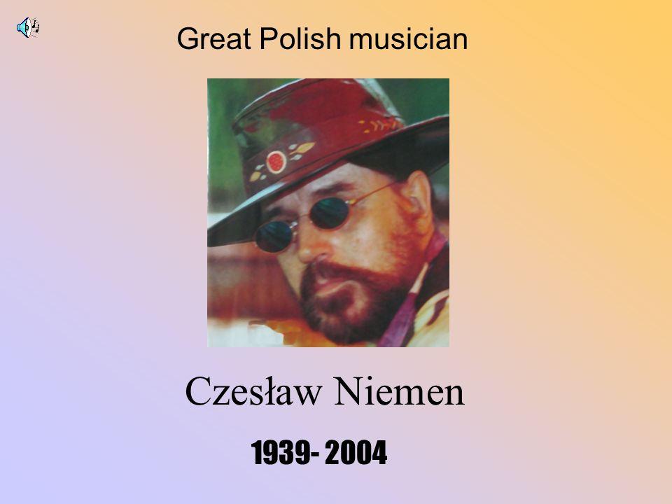 Great Polish musician Czesław Niemen 1939- 2004