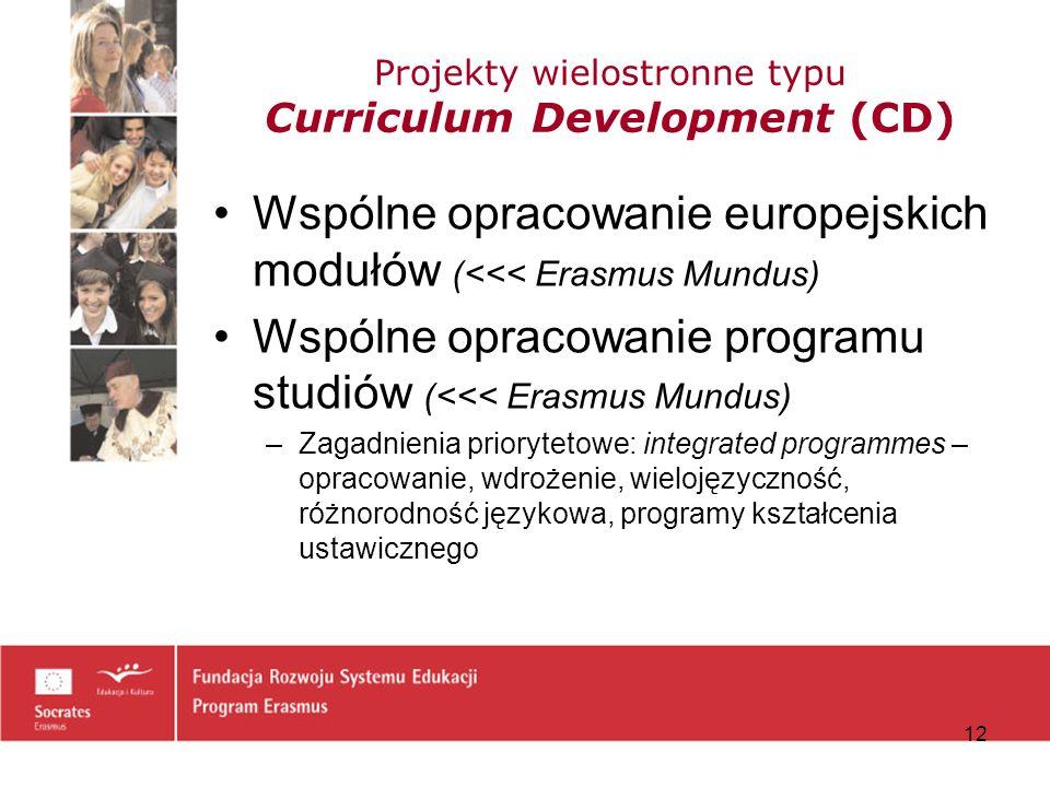 Projekty wielostronne typu Curriculum Development (CD)