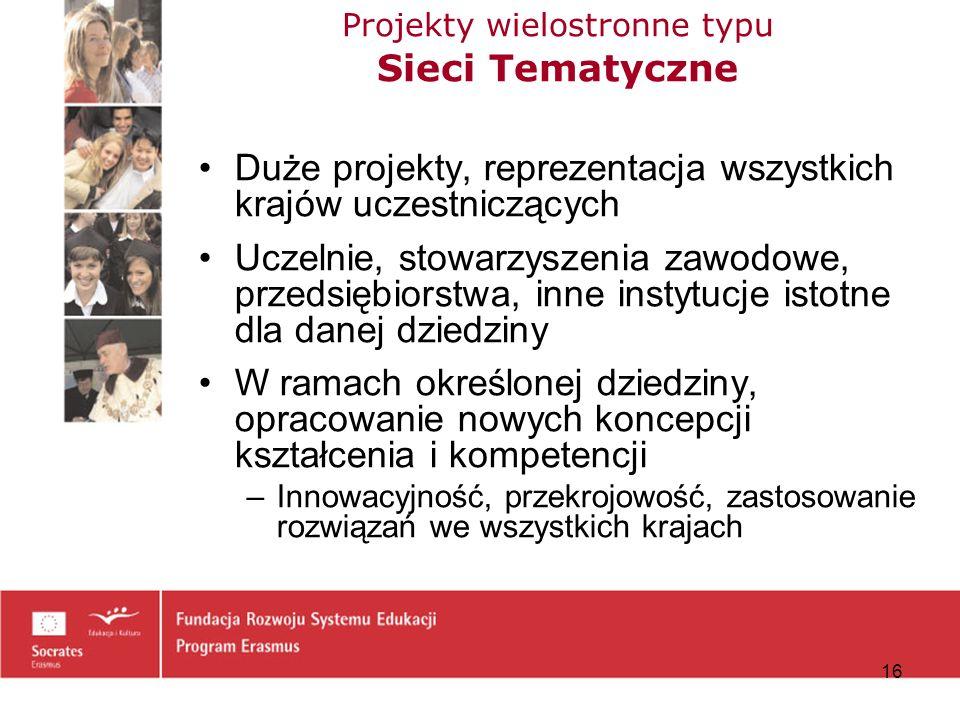 Projekty wielostronne typu Sieci Tematyczne