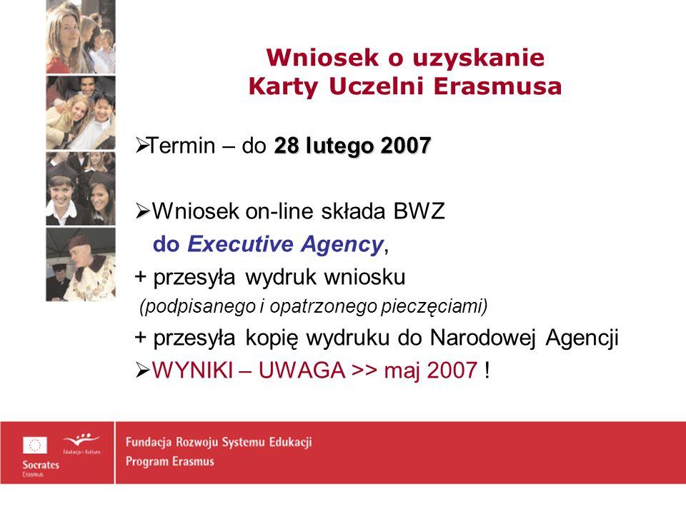 Wniosek o uzyskanie Karty Uczelni Erasmusa