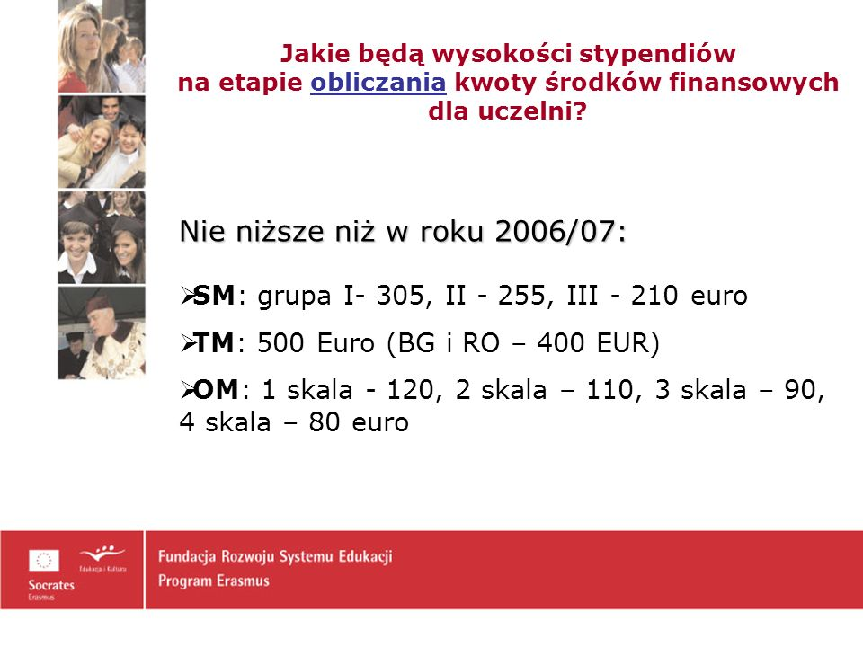 Jakie będą wysokości stypendiów na etapie obliczania kwoty środków finansowych dla uczelni