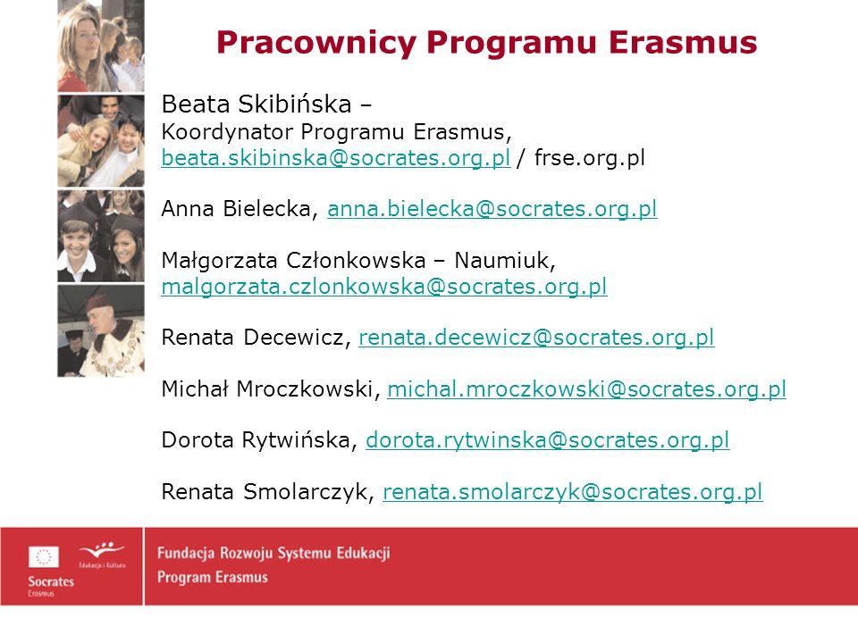 Pracownicy Programu Erasmus