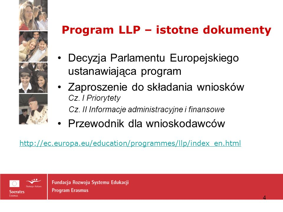 Program LLP – istotne dokumenty
