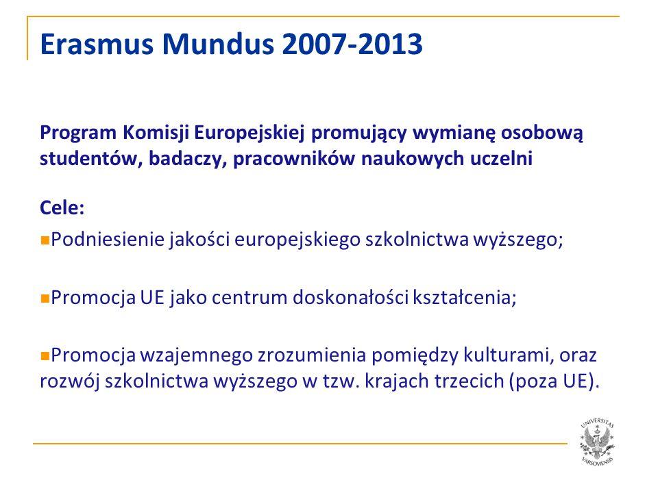 Erasmus Mundus 2007-2013 Program Komisji Europejskiej promujący wymianę osobową studentów, badaczy, pracowników naukowych uczelni.