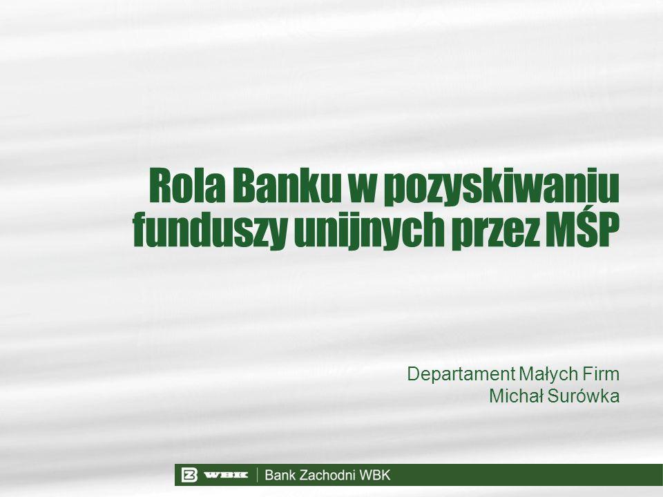 Departament Małych Firm Michał Surówka