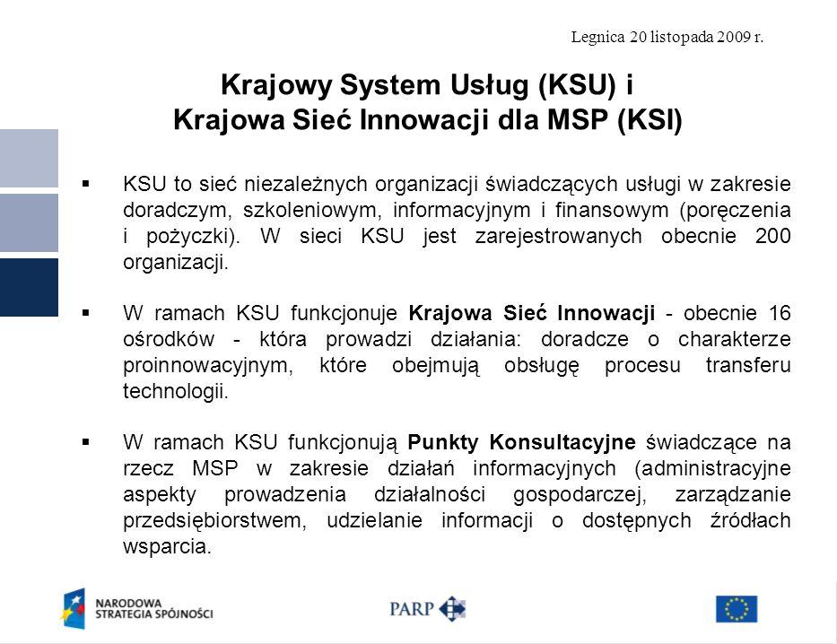 Krajowy System Usług (KSU) i Krajowa Sieć Innowacji dla MSP (KSI)