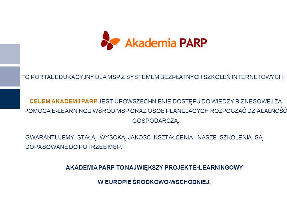 AKADEMIA PARP TO NAJWIĘKSZY PROJEKT E-LEARNINGOWY