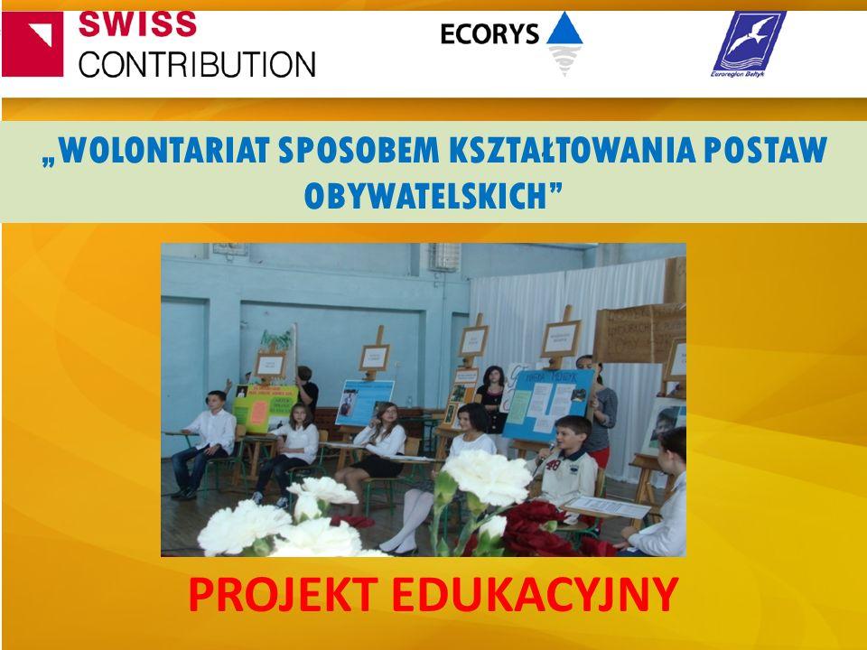 """""""WOLONTARIAT SPOSOBEM KSZTAŁTOWANIA POSTAW OBYWATELSKICH"""