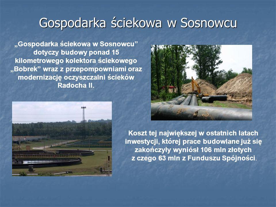 Gospodarka ściekowa w Sosnowcu