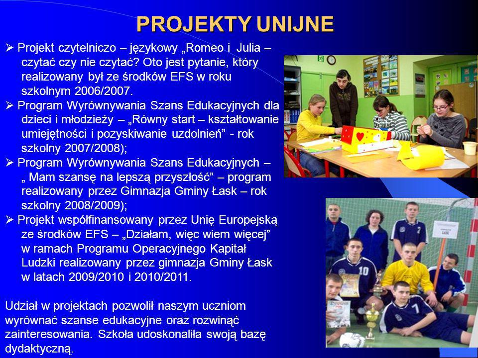 """PROJEKTY UNIJNE Projekt czytelniczo – językowy """"Romeo i Julia –"""