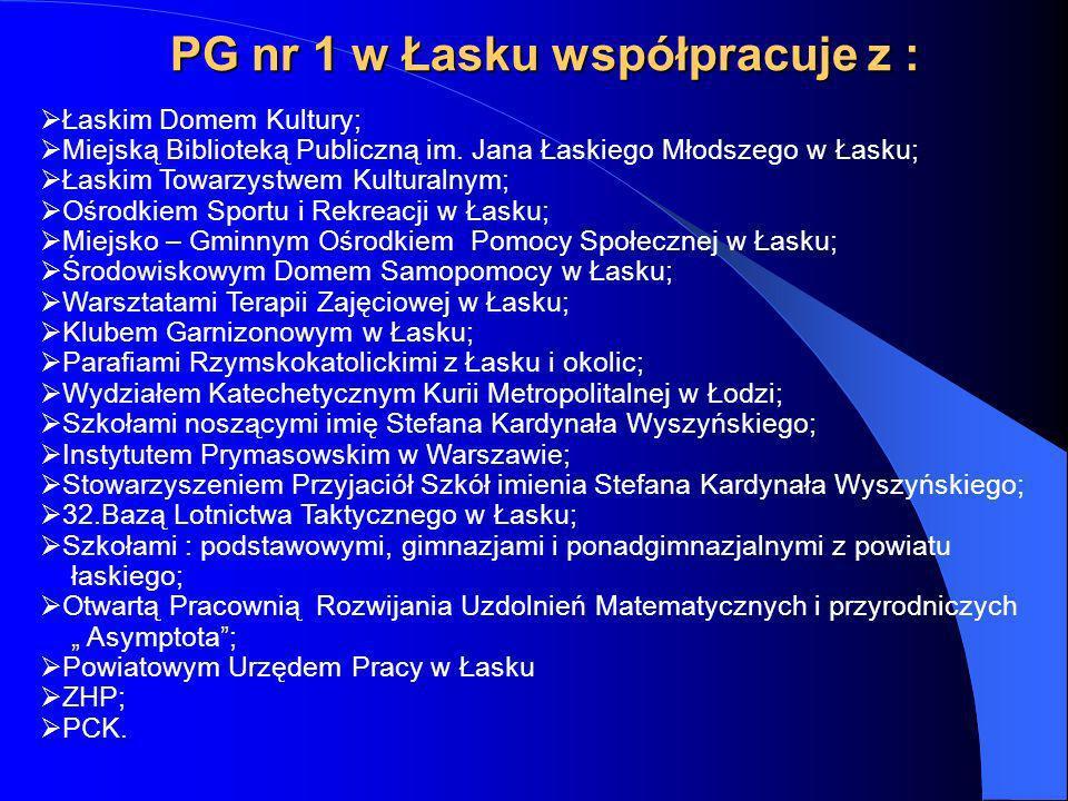 PG nr 1 w Łasku współpracuje z :
