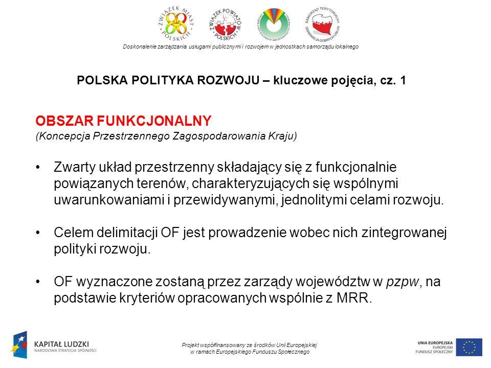 POLSKA POLITYKA ROZWOJU – kluczowe pojęcia, cz. 1