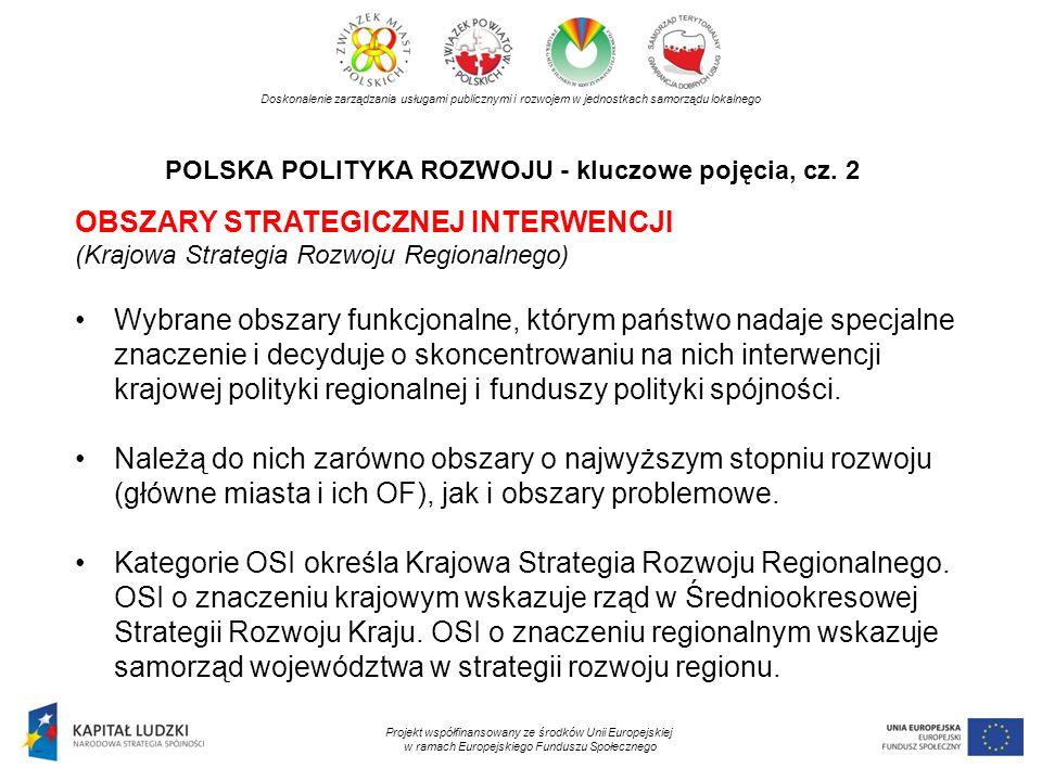 POLSKA POLITYKA ROZWOJU - kluczowe pojęcia, cz. 2