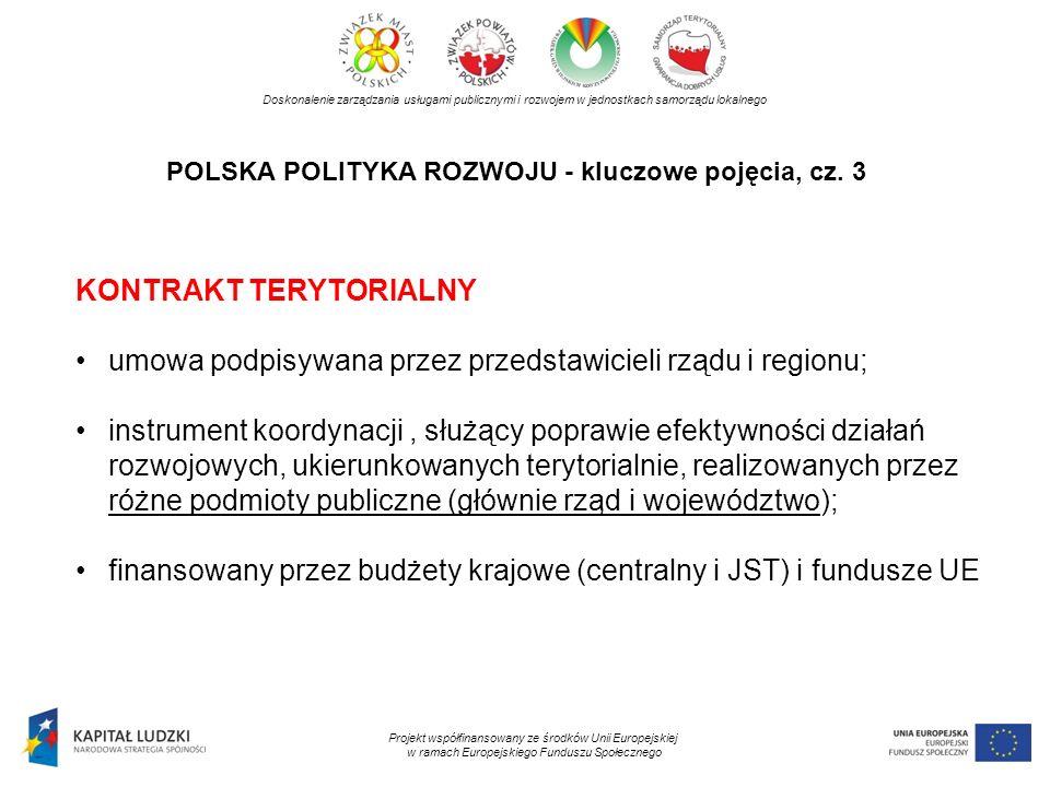 POLSKA POLITYKA ROZWOJU - kluczowe pojęcia, cz. 3