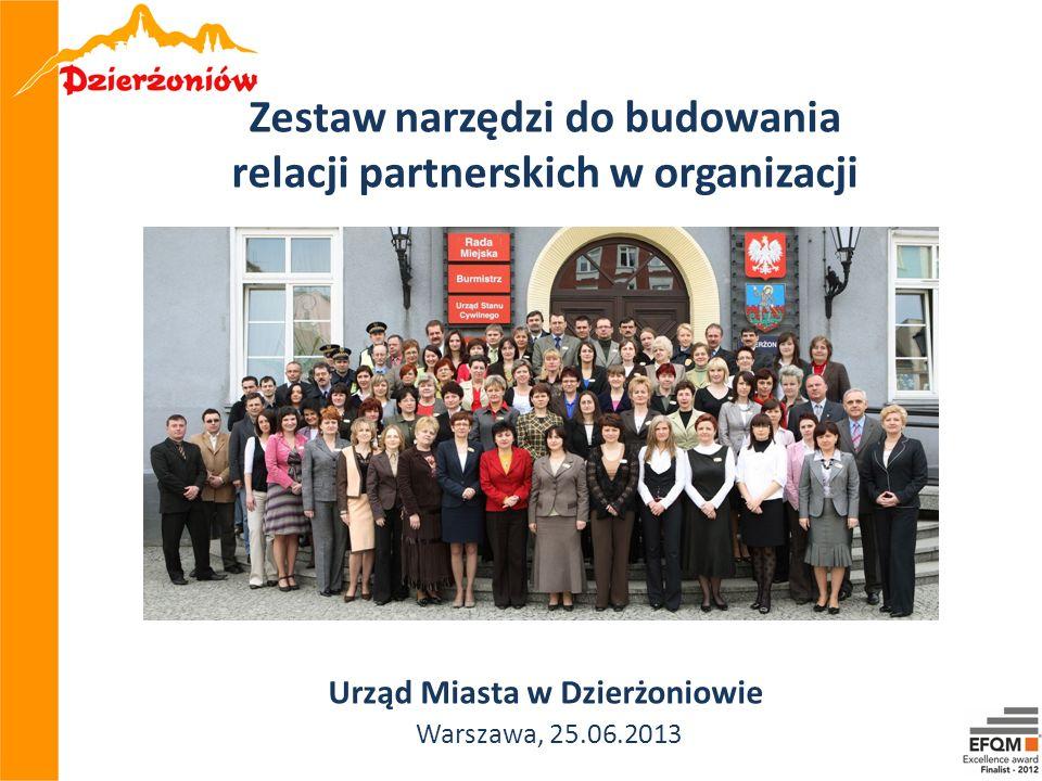 Zestaw narzędzi do budowania relacji partnerskich w organizacji Urząd Miasta w Dzierżoniowie