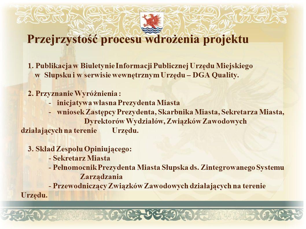 Przejrzystość procesu wdrożenia projektu