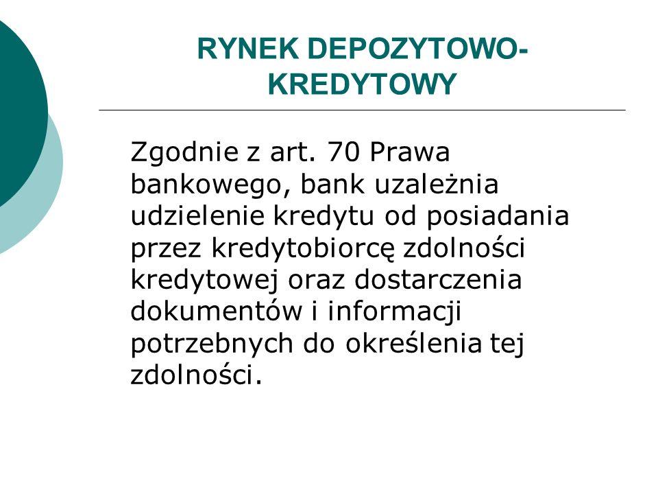 RYNEK DEPOZYTOWO-KREDYTOWY