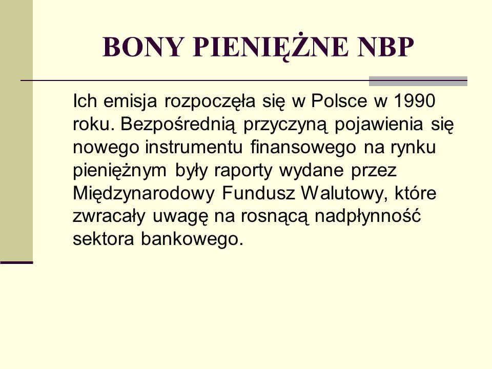BONY PIENIĘŻNE NBP