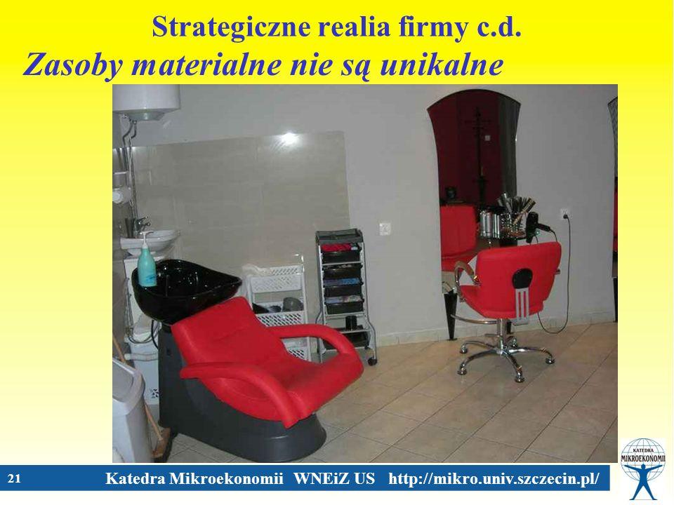Strategiczne realia firmy c.d.