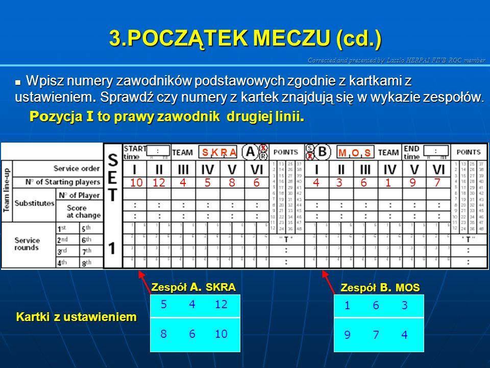 3.POCZĄTEK MECZU (cd.)