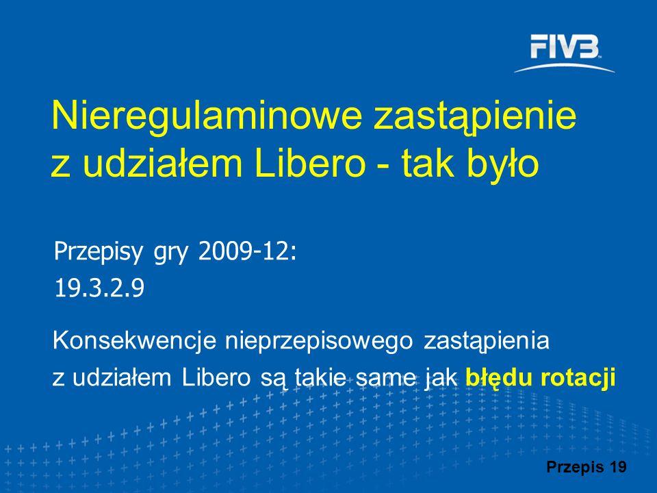 Nieregulaminowe zastąpienie z udziałem Libero - tak było