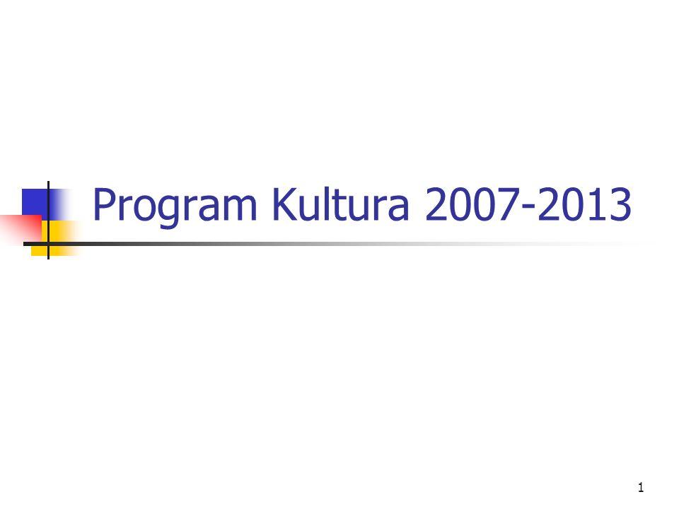 Program Kultura 2007-2013
