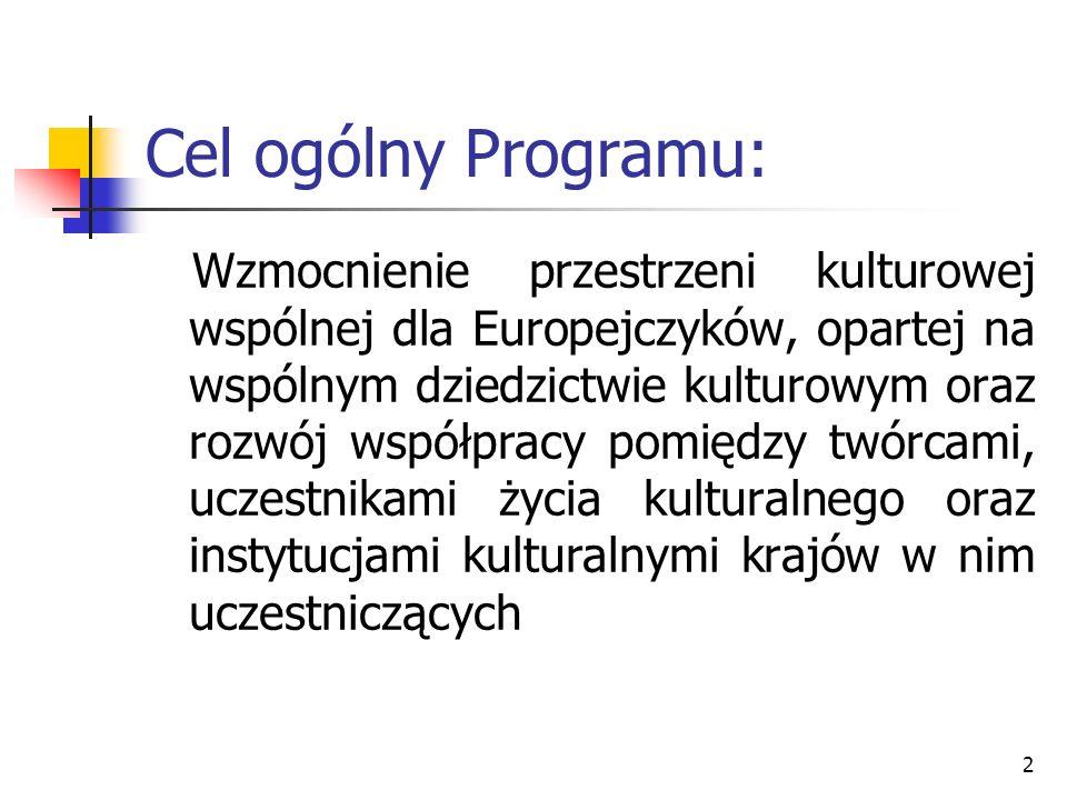 Cel ogólny Programu: