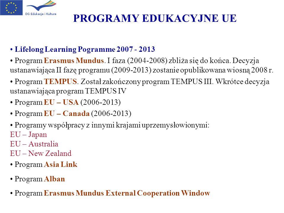 PROGRAMY EDUKACYJNE UE