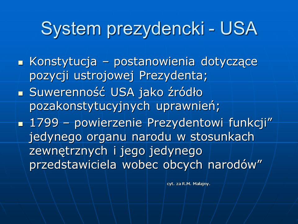 System prezydencki - USA