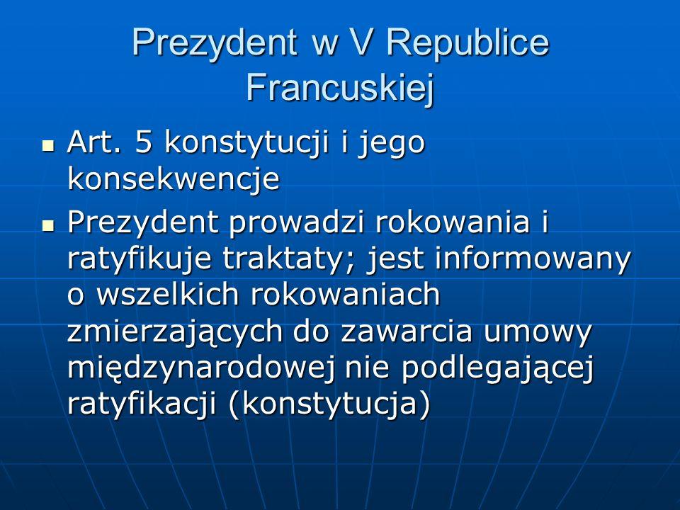 Prezydent w V Republice Francuskiej