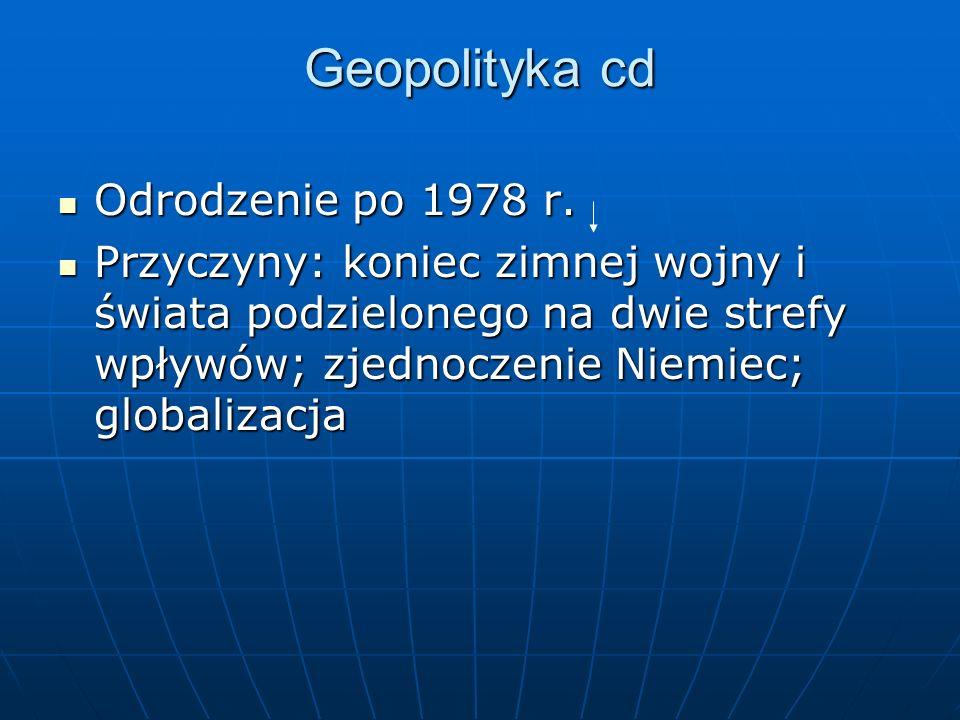 Geopolityka cd Odrodzenie po 1978 r.
