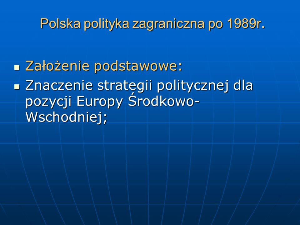Polska polityka zagraniczna po 1989r.